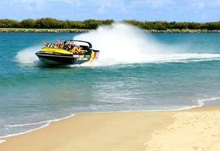 jet boat in main beach