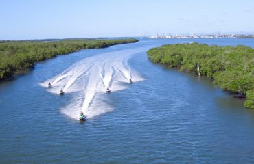 Jet Skiing into Broadwater