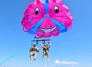 Team bonding parasailing