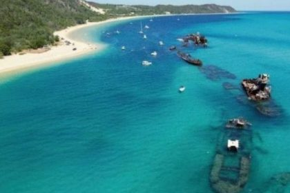 Boating on Epic Waterway with Tangalooma Trip