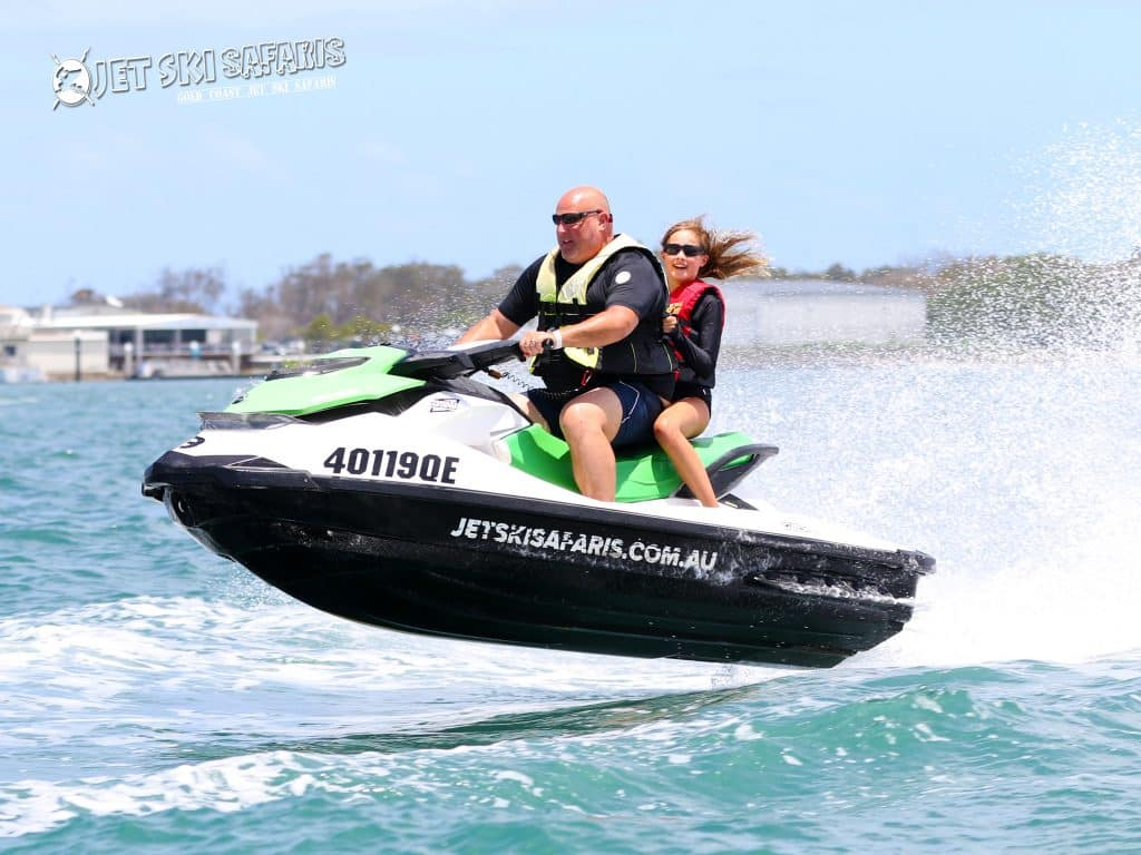 Father and daughter Jet Skiing